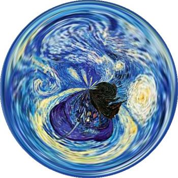 starry night circle - this is cool