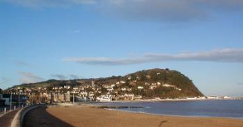 Minehead Beach - Minehead Beach across to the Head.