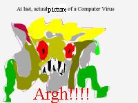 computer virus - Drawing of a computer virus
