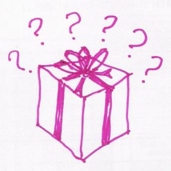 mystery present - A quick sketch of a gift box.