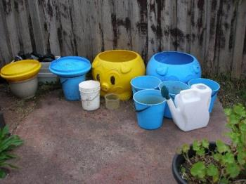 My water catchment - My water catment in my yard