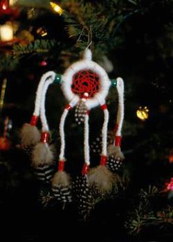 One Of My Handmade Dreamcatcher Ornaments - Dreamcatcher ornament