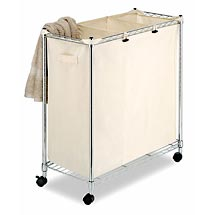 Laundry sorter - This is simular to what I use. Mine has 3 mess bags that you can take out and put back in.