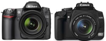 Nikon D80 vs Canon 400D - The two most popular brands in the market. The newest model in each brand goes head to head for DSLR beginners!