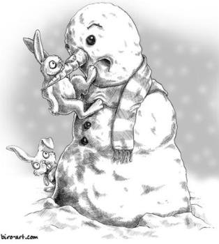 Snowperson - And, my snowperson name is Fluffy Frosty Buns