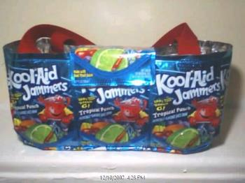 koolaid jammers purse - Here is a tote bag with a flap over the front.