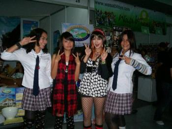 me with my friends cosplaying - im cosplaying with my bestfriend as manga version of tenjou tenge.. im aya natsume and she's emi^_^  weww.. a lot of fun though..