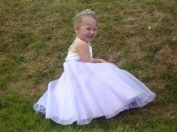 My Great Niece - My Great Niece when she was bridesmaid and fed up with posing. The natural pose here, is great!