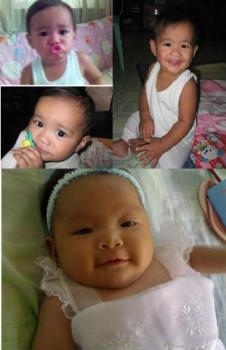 baby pictures - Xyron and Sophie