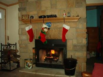 Stockings hung from the mantle with care... - Nothing like the real thing when it comes to a fireplace.