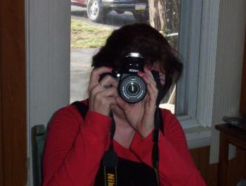 me with new cam - He wanted this picture, said it's the only view of me he sees this past week lol