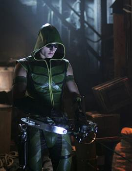 Green Arrow - He's played by a hot and great actor. I am glad he's the Green Arrow. maybe i'll see if he is in other shows or movies.