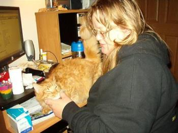 ahhhhhh....gotta love massages - Tigg getting one of his daily massages from mom.
