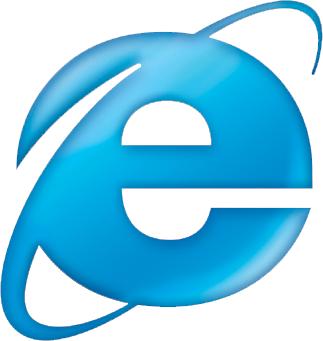 Internet Explorer - The logo of IE