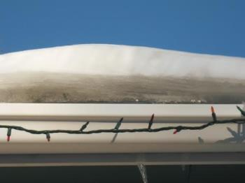 Ice jam on my roof - one of many ice jams formed from the thawing temps lately