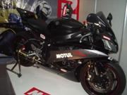 Motorcycle - A big black motorcycle.