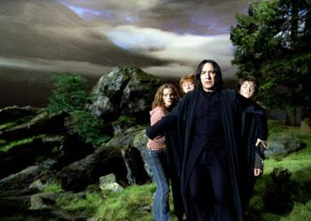 Harry Potter - Severus Snape protecting HP and his friends on the 3rd movie