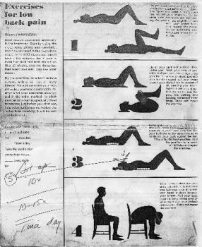 Back Pain Exercises - This was given to my mom by her doctor in which worked for her and now it works for me