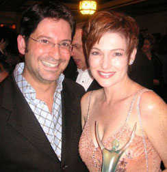 GH's Carolyn Hennessy - Ovation Award-winning actress Carolyn Henessy after the ceremony with director Kiff Scholl.