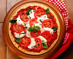 Margherita Pizza - THis is a photo of my favourite pizza - margherita