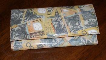 my purse - purse with Australian $50 note theme
