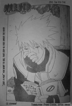 Kakashi manga cover - Just a peek!