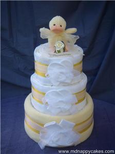 Three Tier Nappie Cake - Without the luxury of the expensive one.