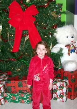 my daughter in red and see how tiny she is - My tiny 5yr old Hailey..