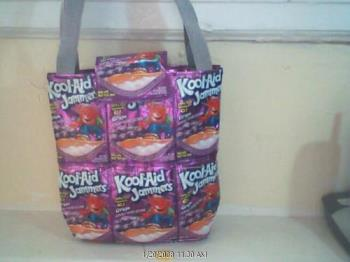Hand made purse - Juice pouches made into handbags