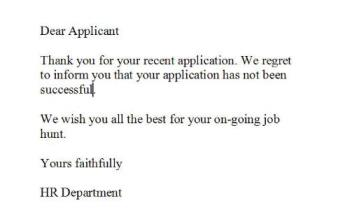 How to Respond to a Job Rejection Letter