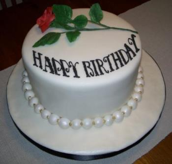 Birthday Cake - Beautiful Cake with Rose