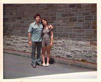 Dino & Me Back In Summer Of 1973 - Here I am with a guy 2 special 2 ever 4get: Dino Fantini, who used to play Gino Panzini on a daytime drama called Return To Peyton Place.  I told him that my folks and I were traveling to California and that, if he were single and just as nice as the character he played, I would love to go out with him.  So we all ended up spending a couple of hours talking over Orange Julius drinks.