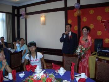 Chinese wedding dinner - this is a wedding ceremony photo of my colleague taken last year
