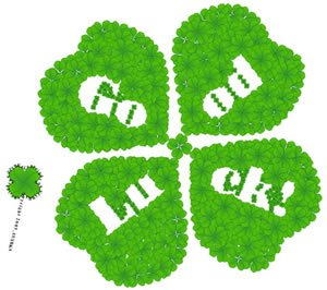 good luck - A good luck 4 leaf clover and a wish that things improve for you soon