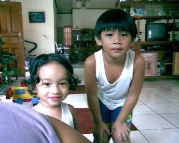 My son and my Nephew - Xandie and Franz