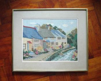 Cross-Stitch Picture - This is a cross-stitched scenery I did many years ago.