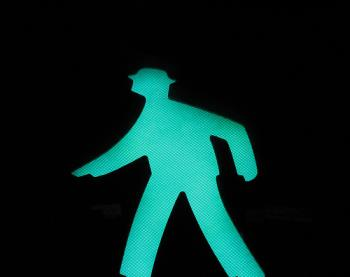 Do you drag your feet when you walk? - A picture of a figure walking. Photo source: http://farm1.static.flickr.com/64/159976795_0e2c4d0671.jpg?v=0 .