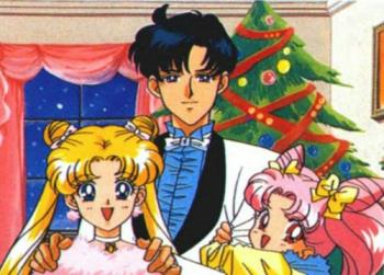 moon family - Usagi, Mamoru and Chibiusa