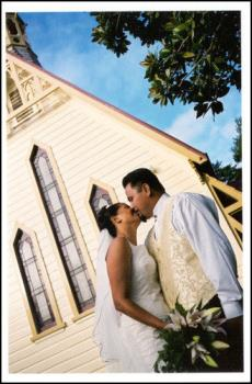 A Kiss - On our wedding day :)
