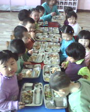 children i teach. - when at dinner they just enjoy the evening togetherness with their meal.