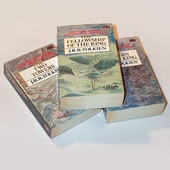 tolkien lord of the rings - the three books that make up the lord of the rings