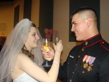 Neice and New Nephew - They did have an actual wedding a year later