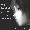 darkness - finding yourself