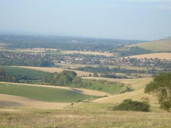 View Across The Weald - View from the South Downs across the Weald of Sussex