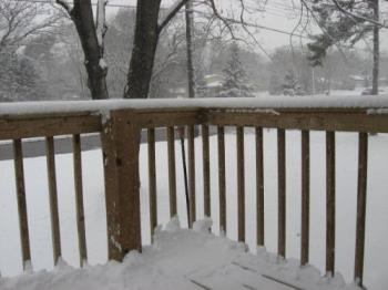 My Front Deck - I have a few inches today so it's all yours for the taking