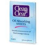 blotter - Johnson and Johnson's clean & clear oil absorbing sheet