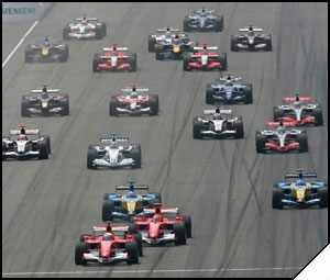 F1 race - A familiar image for the F1 fans