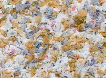 A mountain of plastic bags! - plastic bags, grocery sacks, trash bags