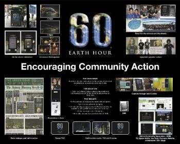 Earth hour - Join in on Mar. 29, 2008. Help save the Earth one step at a time. =)