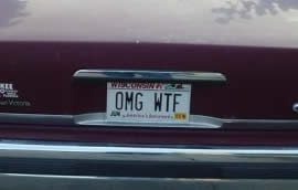 car numberplate - omg wtf
